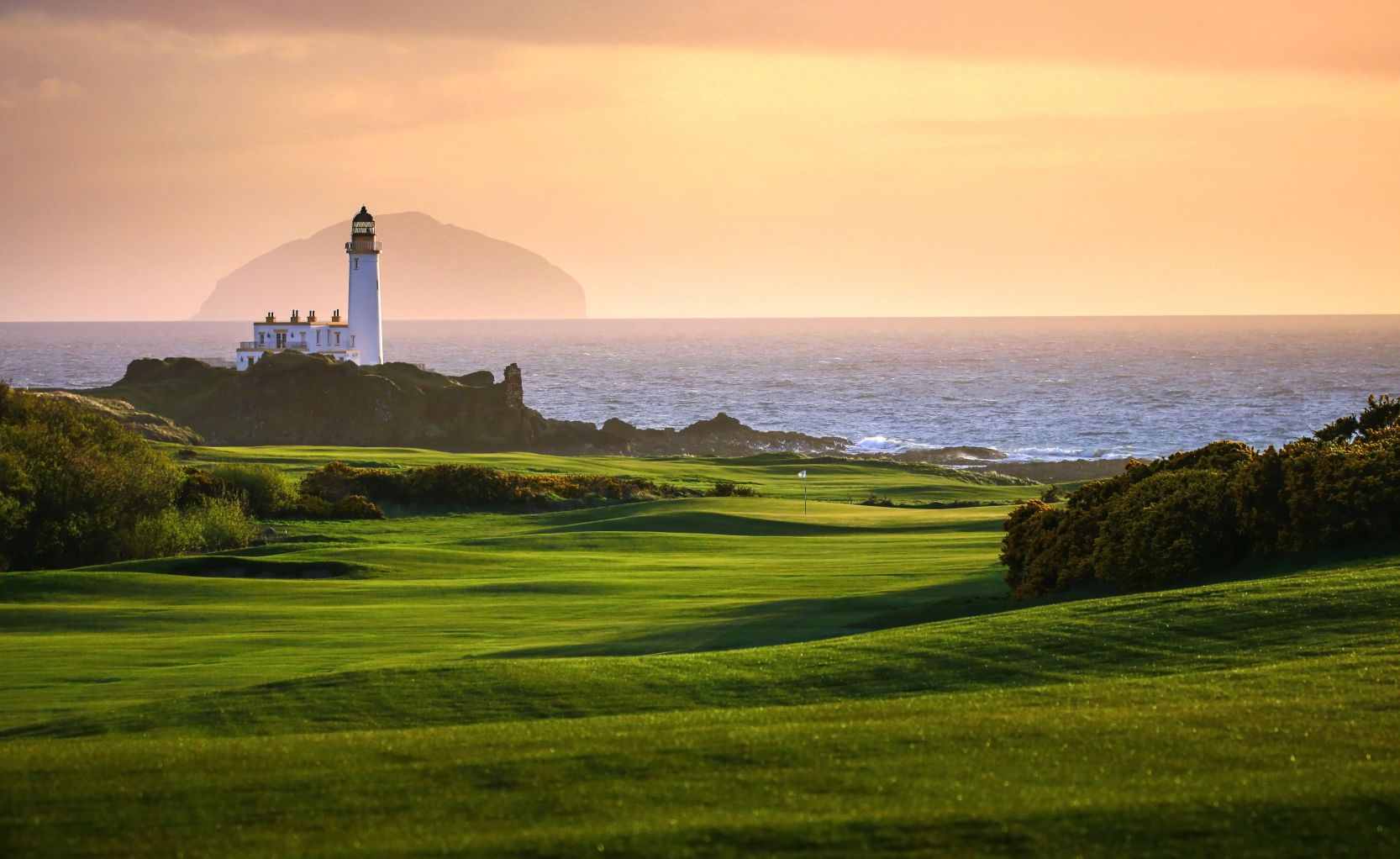 golf course and lighthouse