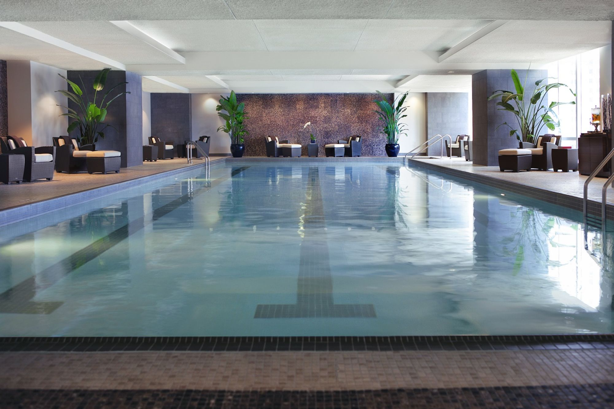 Indoor Hotel Pool with Seating