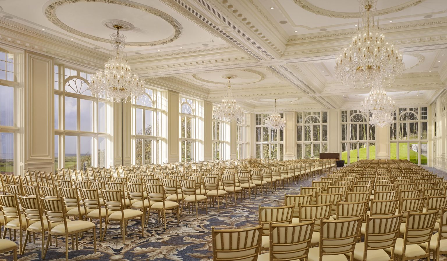 Large Conference Room & Gold Chairs
