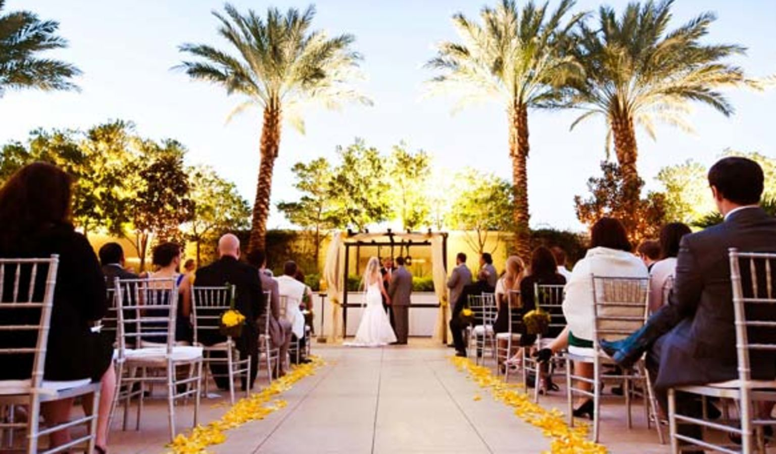 Outdoor Wedding Ceremony near Palm Trees