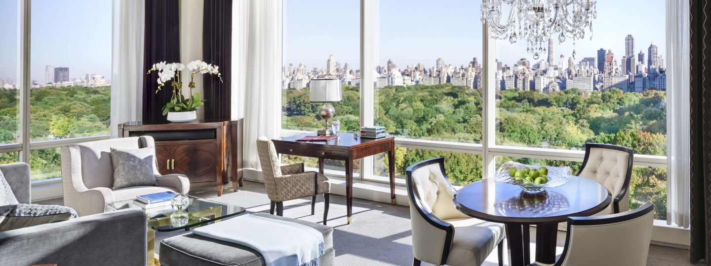 Trump Suite Living Room With Central Park View