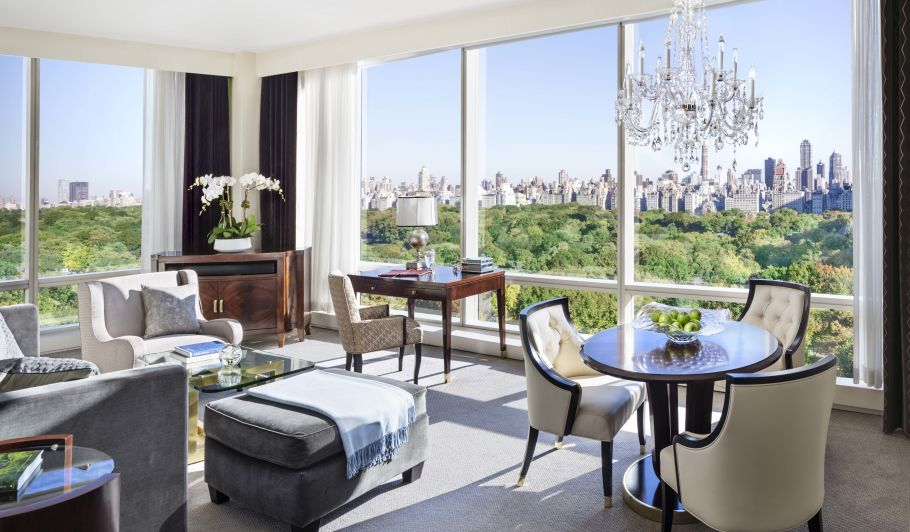 Suite Living Room With Central Park View