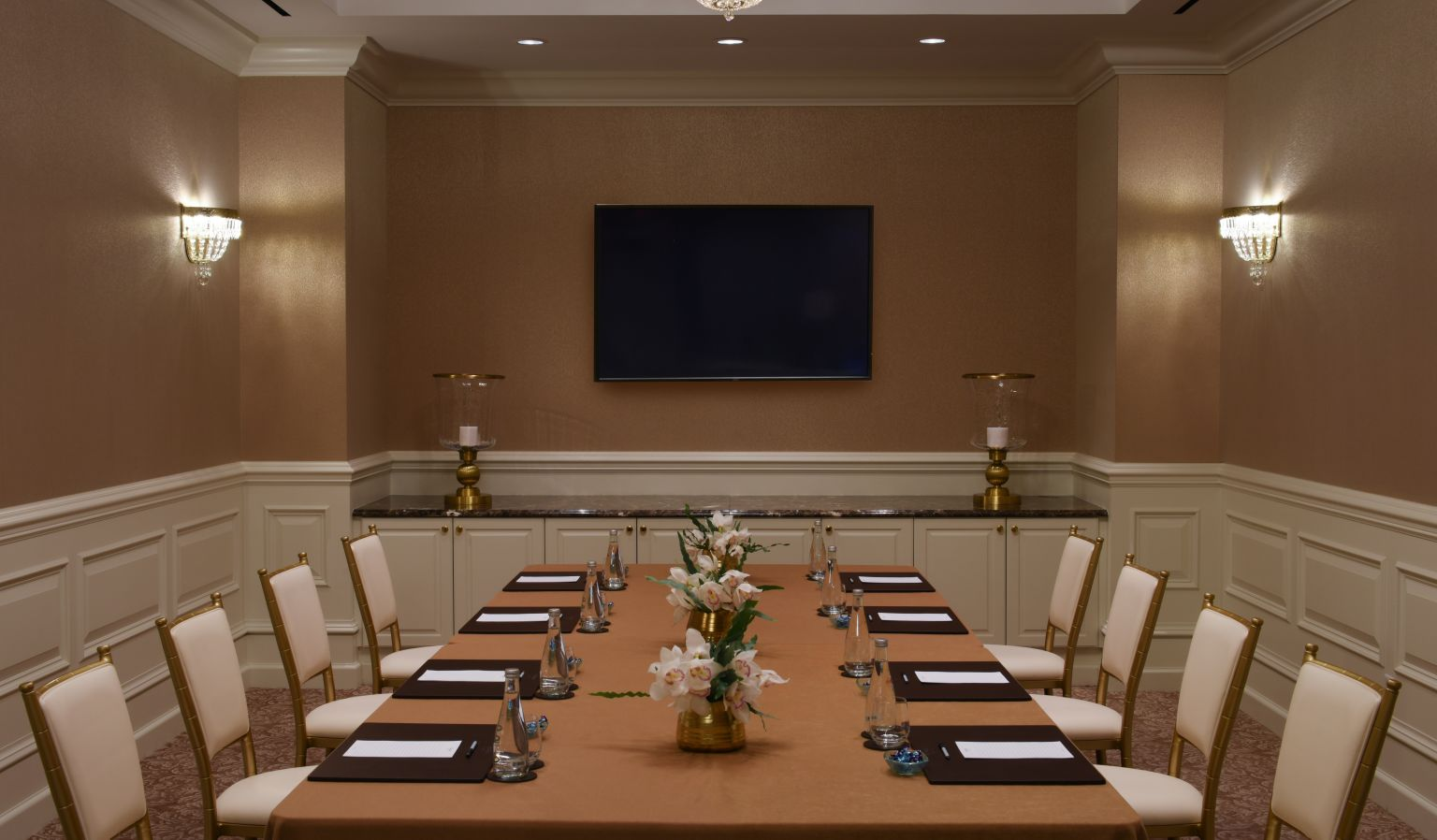 Private Meeting Room With Table and Chairs