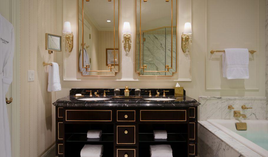 Dual Vanity With Black Marble