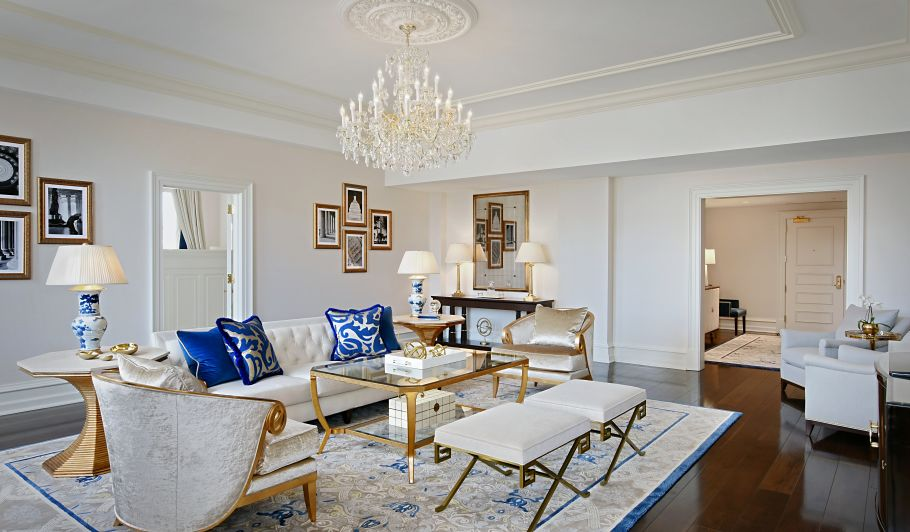 Living Room Furniture With Gold Accents