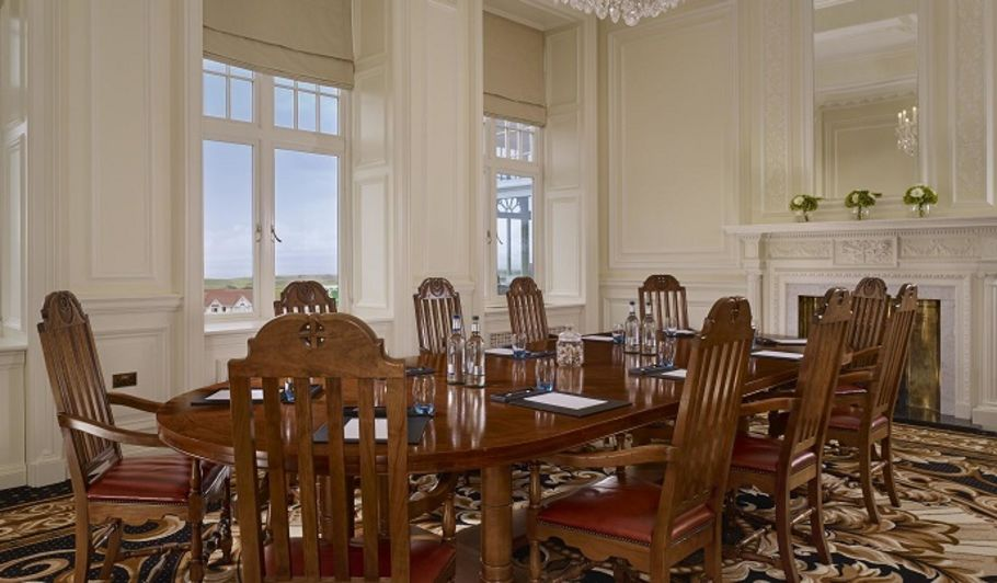 Boardroom with Wood Long Table and Chairs