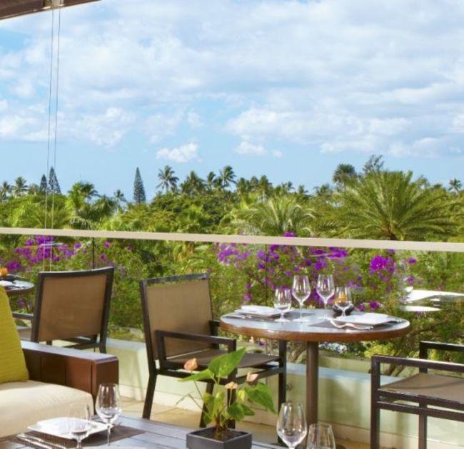 Wai'olu Ocean Cuisine Outdoor Tables Overlooking Landscape