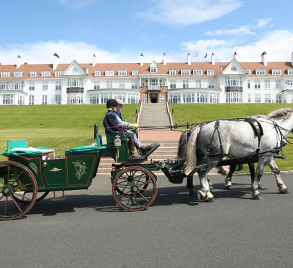 Horse Carriage in Front of Trump Turnberry Resort