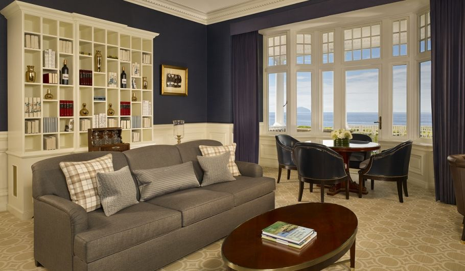 Luxury Suite Living Area with Ocean View