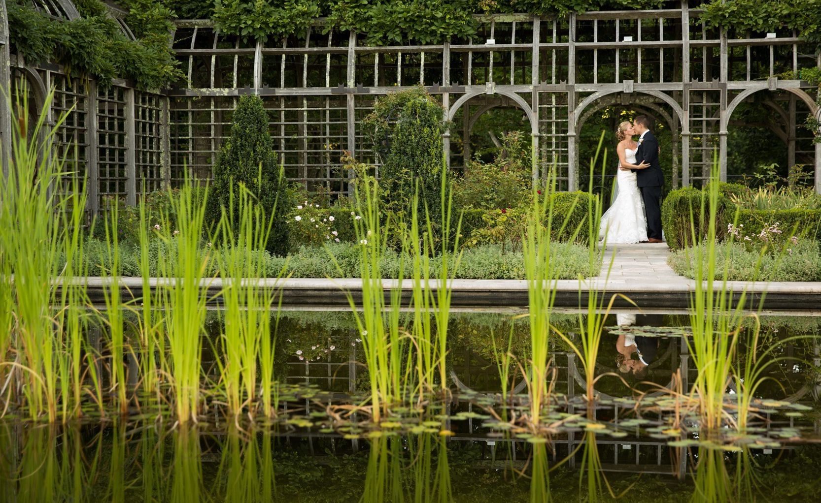 Bride and Groom at Albemarle Estate