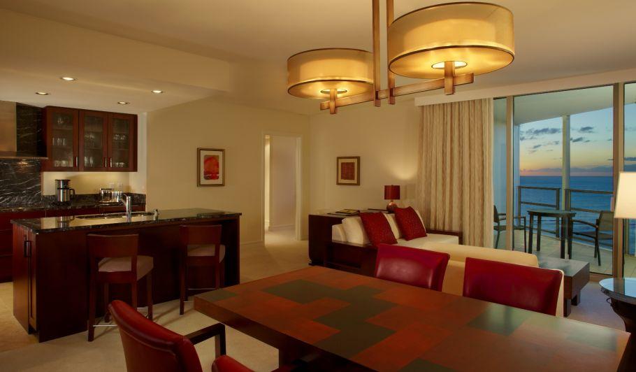 Oceanfront Hotel Suite Living Room