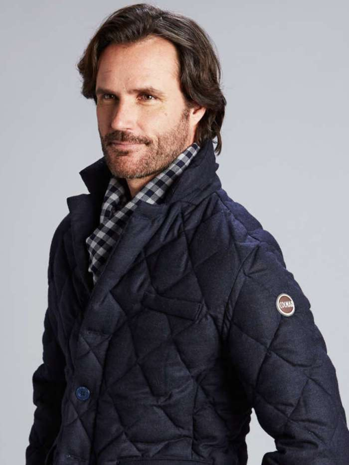 Men's quilted winter jacket