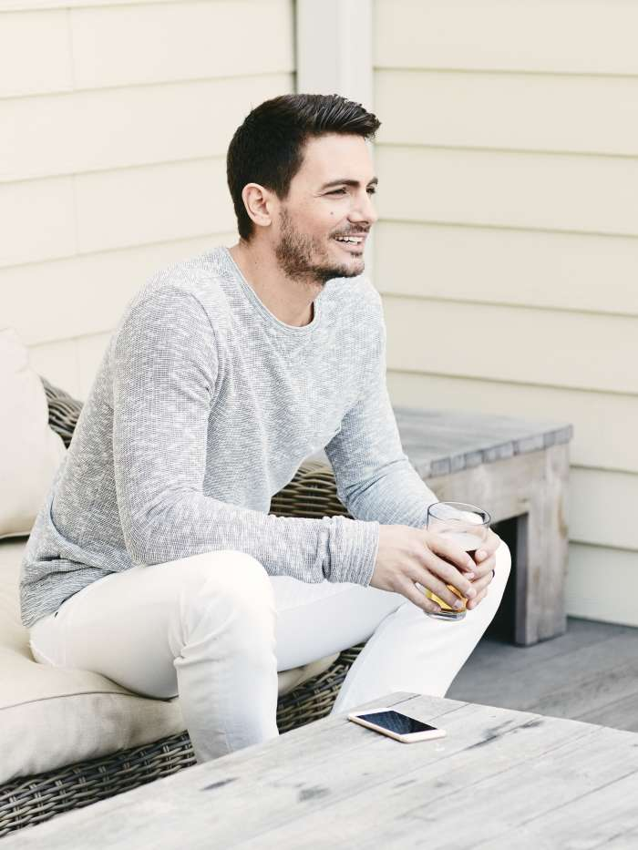 Mens White Jeans Look