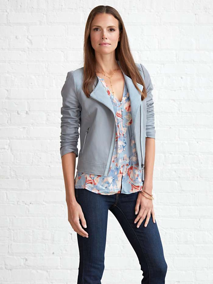TCW Core Brand Joie leather jacket shirt