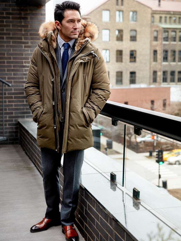 Mens parka for the office
