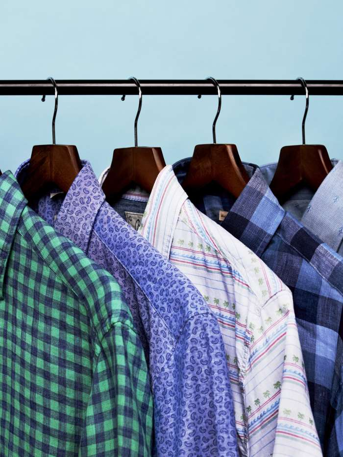 Novelty woven button down shirts