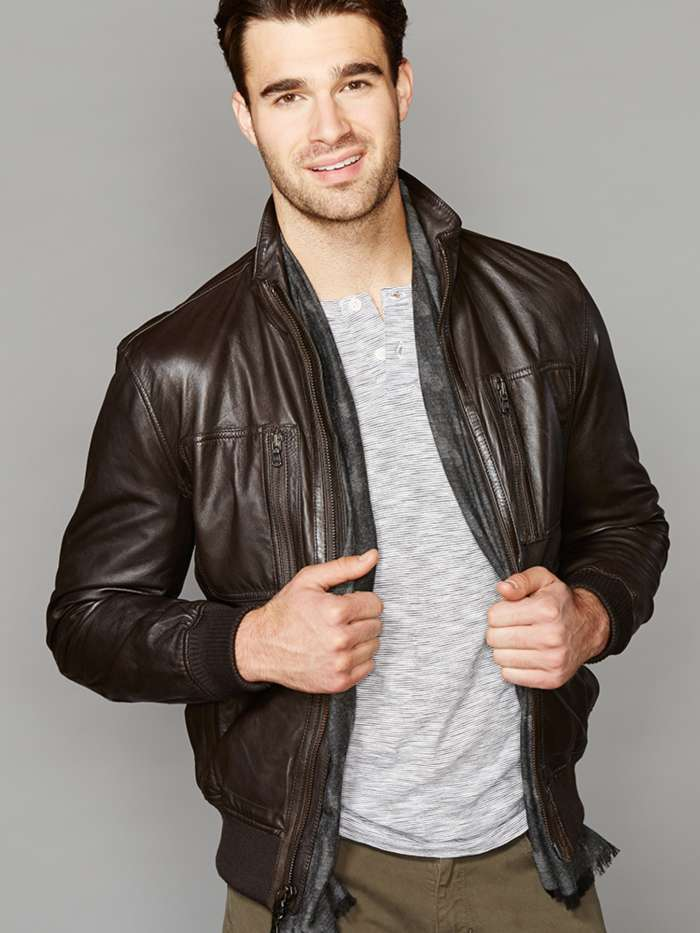 Men's Leather Jacket Look