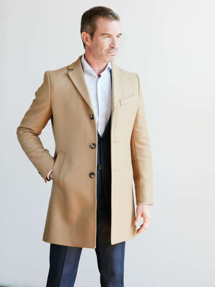Mens fall topcoats outerwear