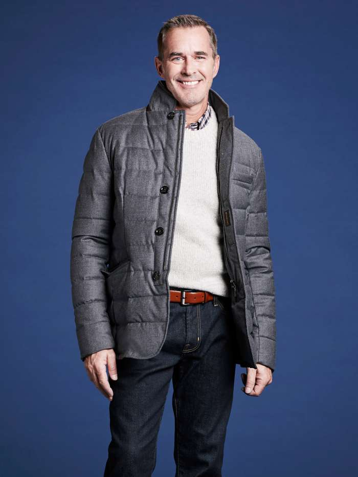 Down jacket for men outfit