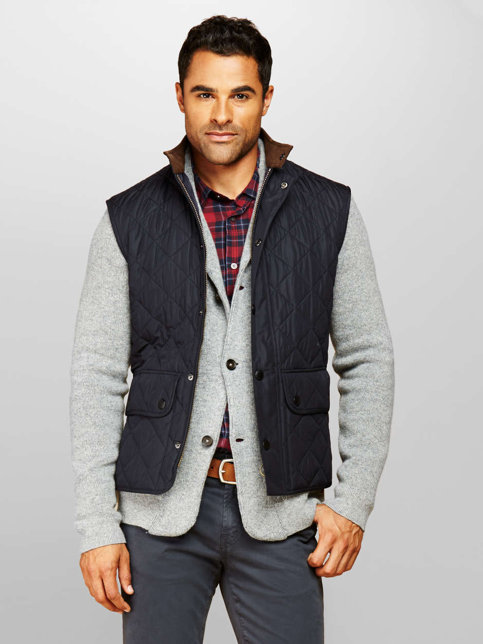 Men's fall quilted vest