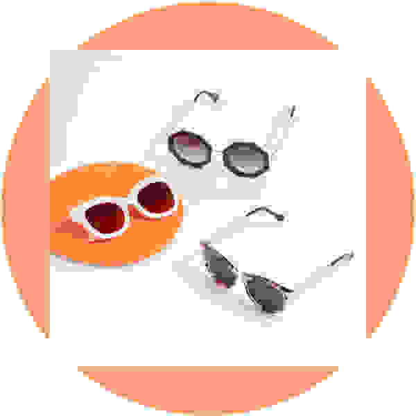 Statement frame sunglasses for women