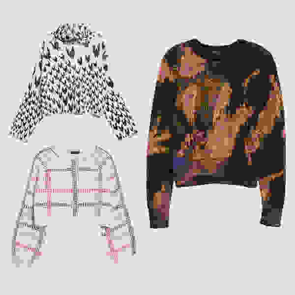 Printed statement sweaters.
