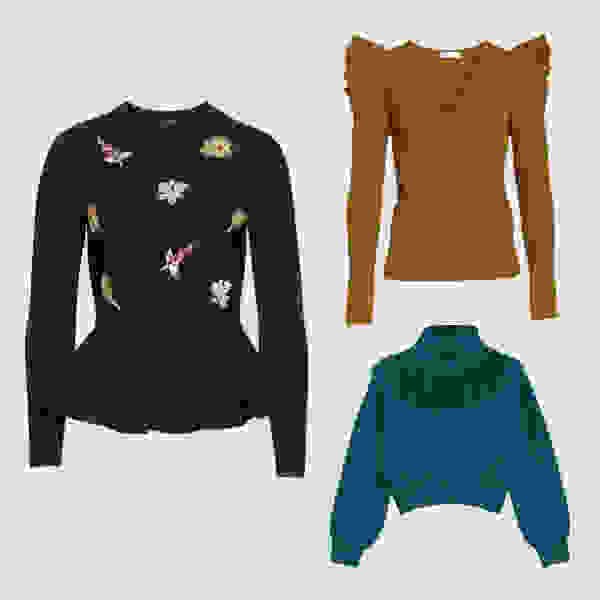 Accent statement sweaters.
