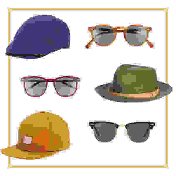 Sunglasses and hats.