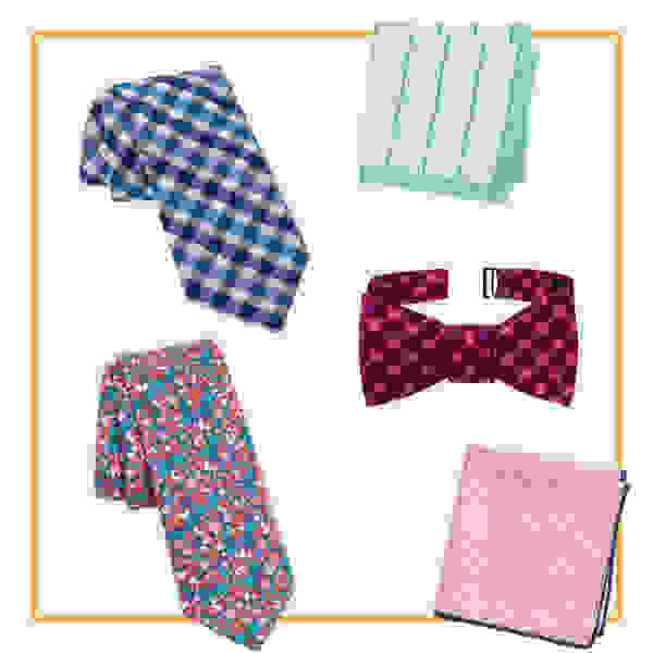 Ties and pocket squares.