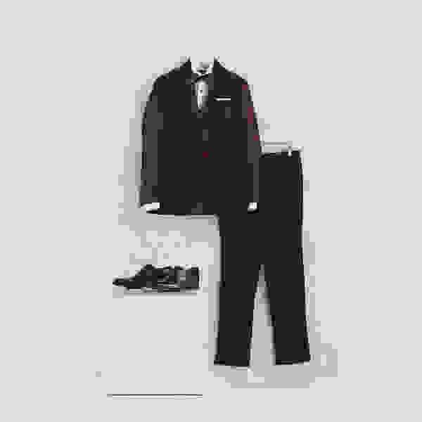 Black-tie wedding suit