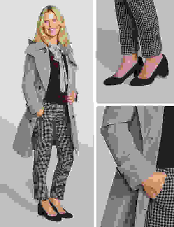 Women's layered workwear look