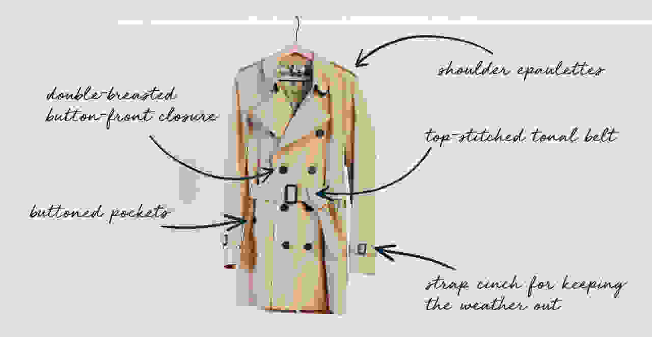 classic trench coat details