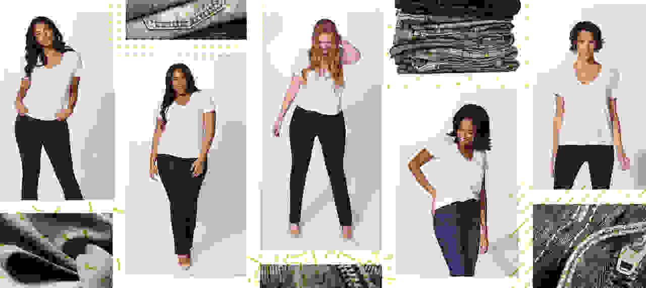 women wearing denim