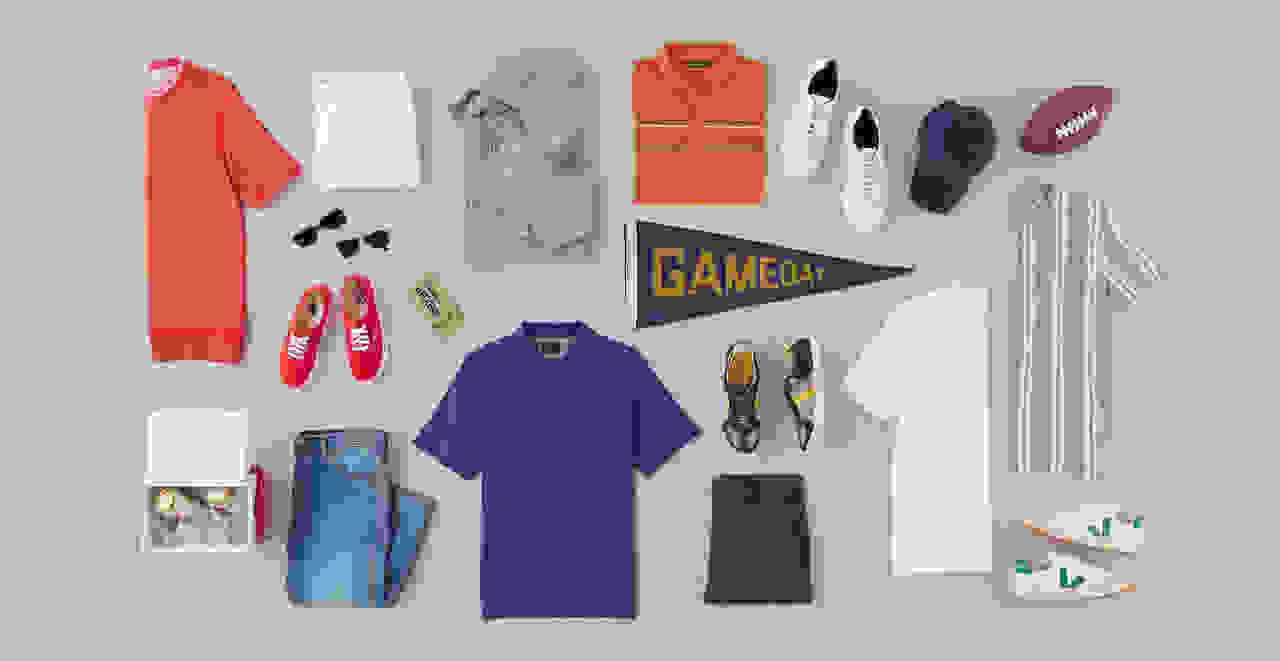 Men's football game outfits