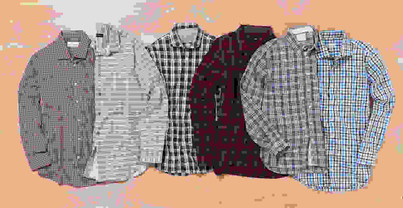 Variety of men's plaid shirts
