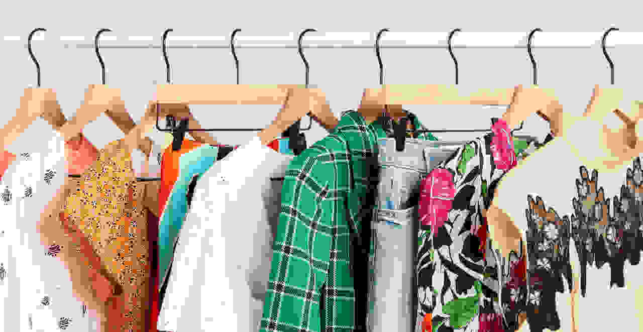 women's clothes on a clothing rack