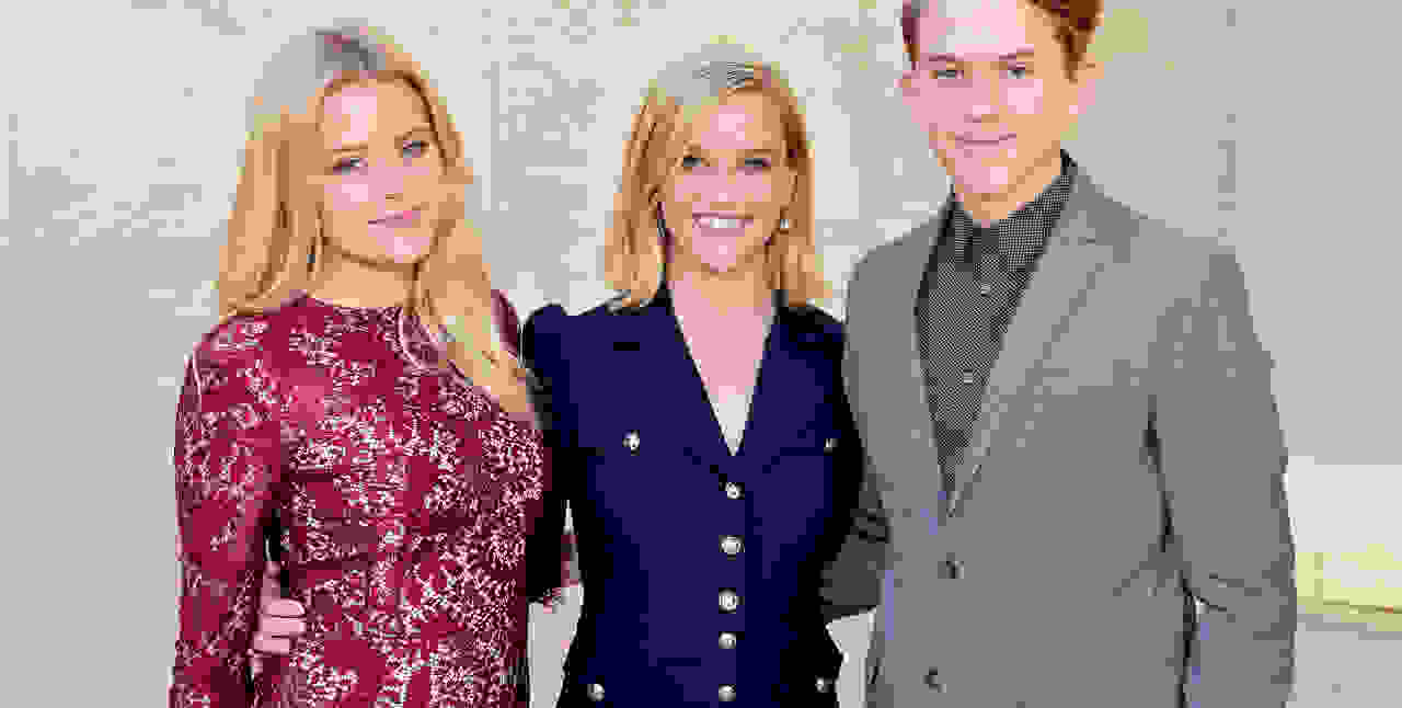 Reese Witherspoon with her children smiling