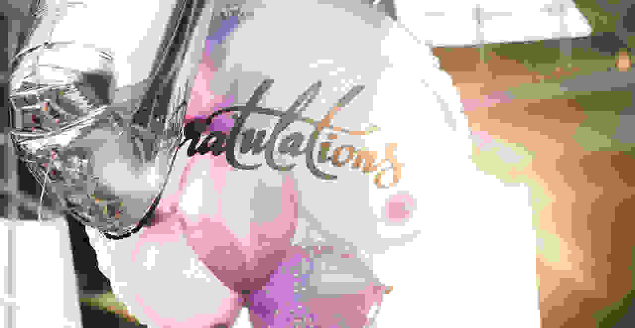 Congratulation party balloons