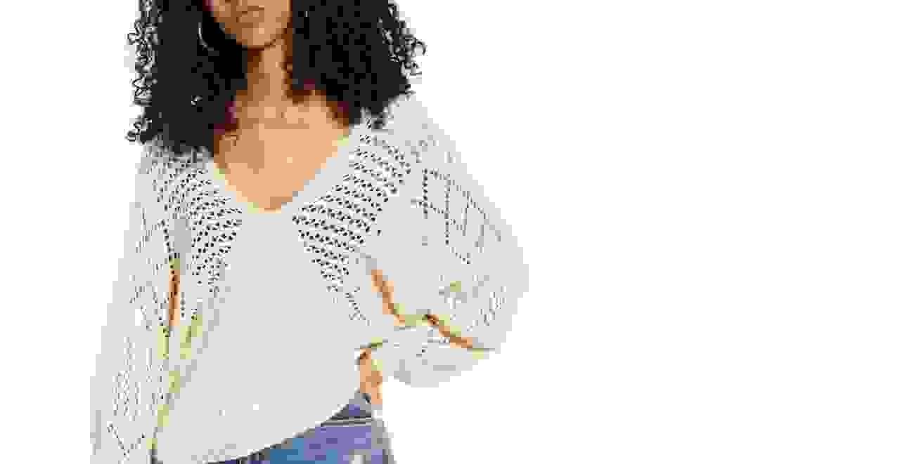 Women in a boho chic sweater