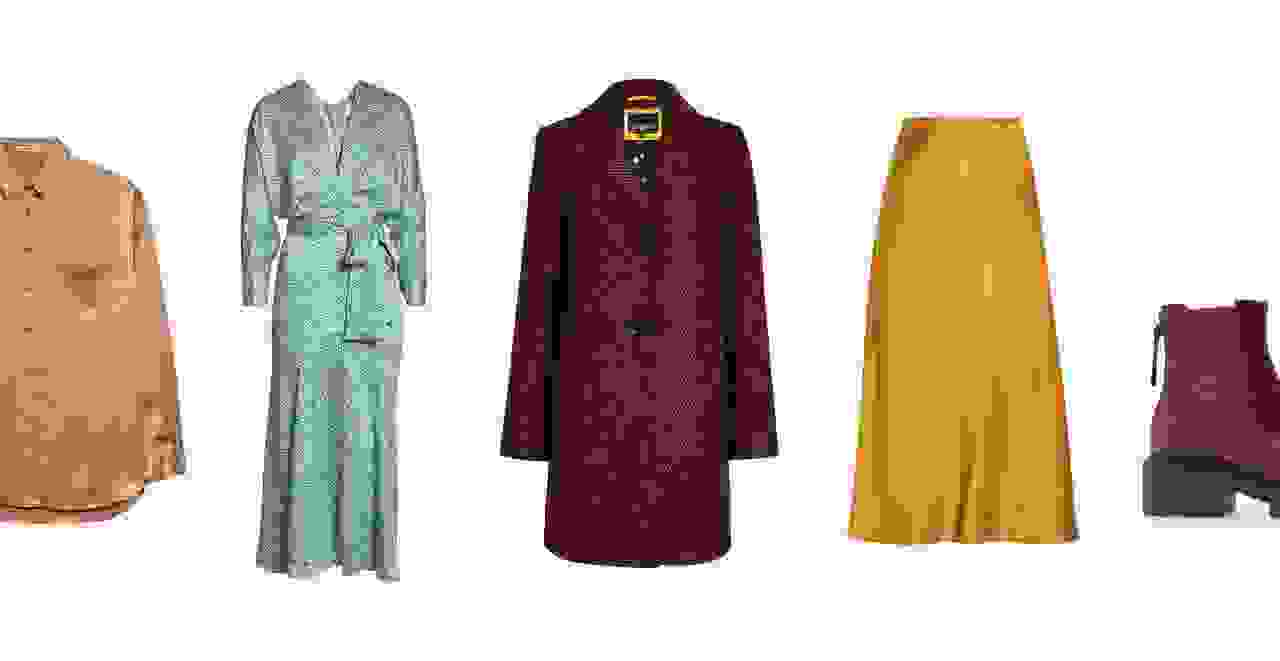 Clothes in fall 2020 color trends