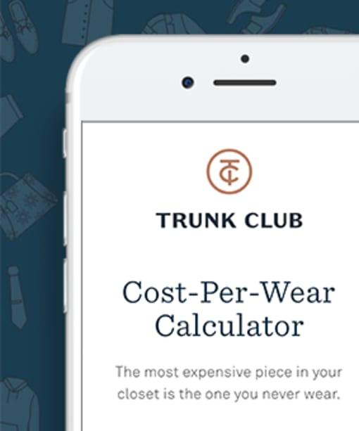 Nordstrom Trunk Club's Cost-Per-Wear Calculator