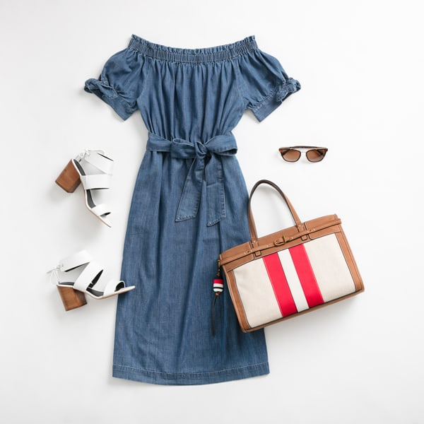 Women's Denim Dress Outfit for Work