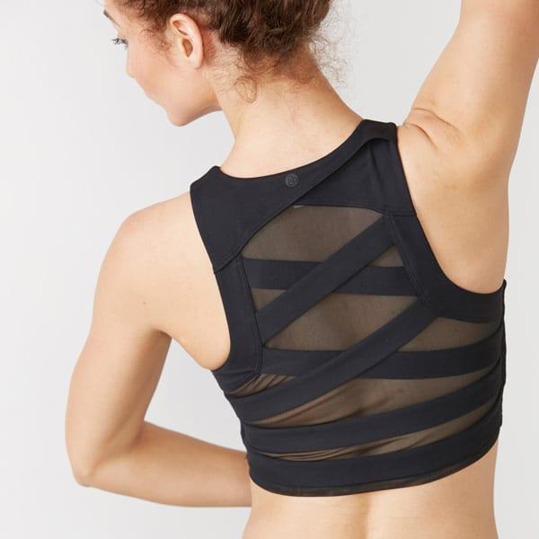 Women's mesh back activewear top