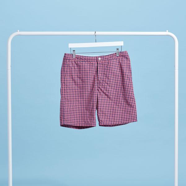 Gingham shorts for men