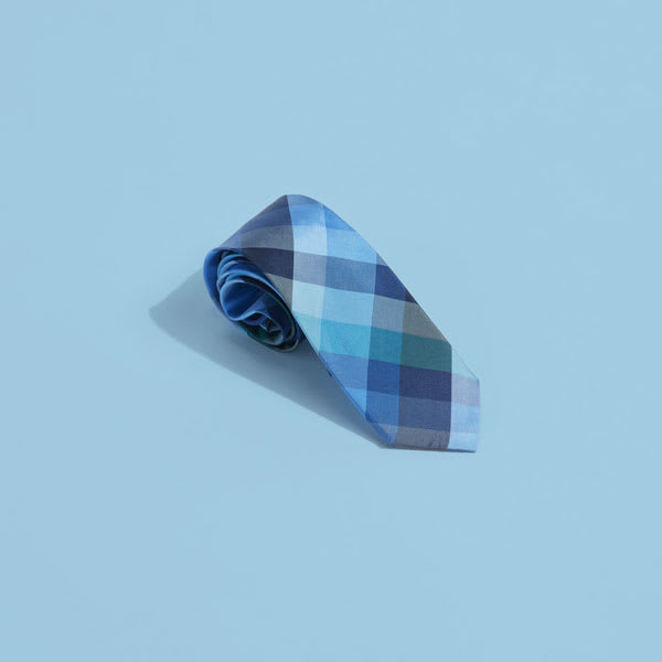 Gingham tie for men