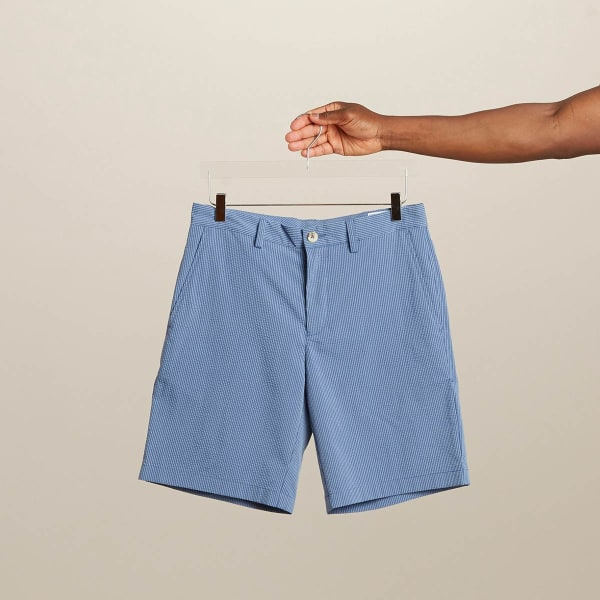 Seersucker shorts for men