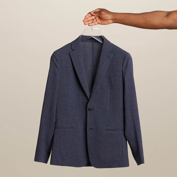 Seersucker jacket for men