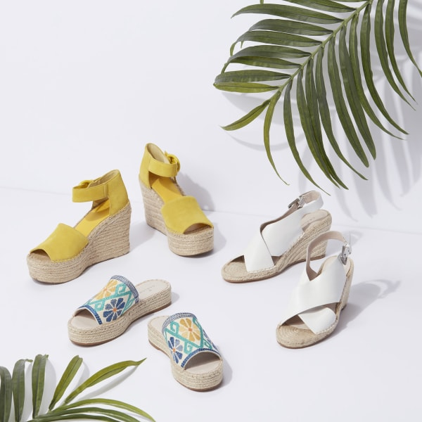 Espadrille wedges for women