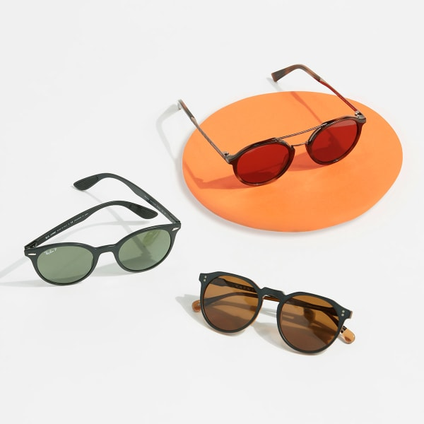 Round framed sunglasses for men