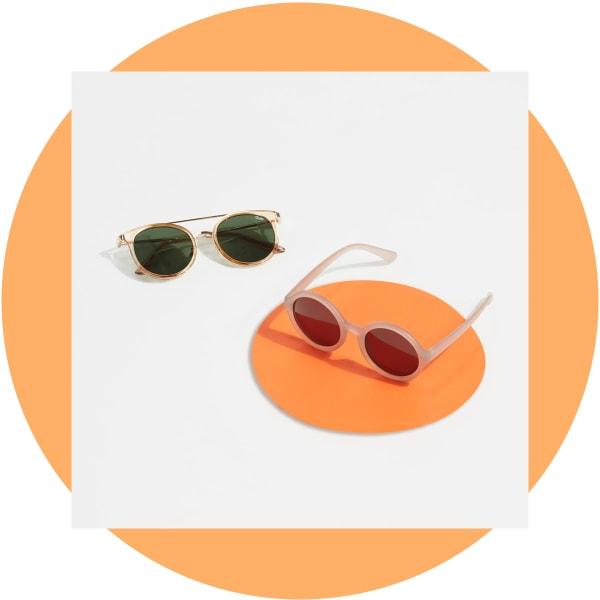 Round frame sunglasses for women